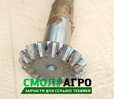 Вал шестерня РУ 02.02.601 для рассеивателя минеральных удобрений РУ-1600